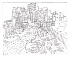 Color This Book New York City Abbi Jacobson Quiet Lunch