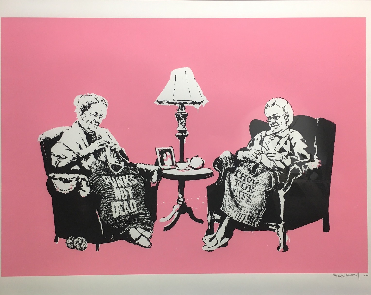 Bansky, Grannies, 2006,,screenprint on paper, 57.5 X 77 cm