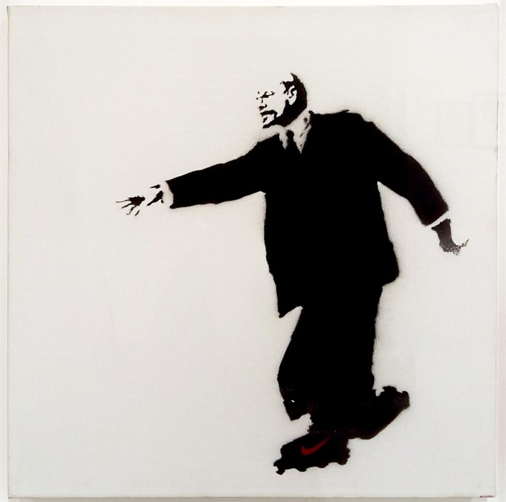 Bansky, Lenin on Skates,